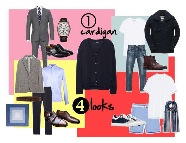 Stile uomo_1 cardigan per 4 look